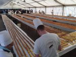 The record for the longest chocolate éclair beaten in Verviers