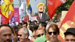 Peace campaigners stage Brussels protest against Trump