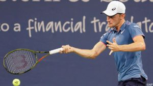 Sizzling Goffin has busy but successful day and now meets Federer