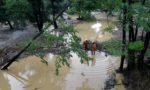 A man is missing and 750 evacuated from campsites as the floods hit southern France