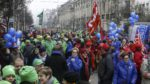Tens of thousands demonstrate against government's pension plans
