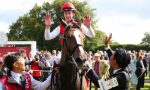 Japanese celebrate landmark Goodwood win by Deirdre in Nassau